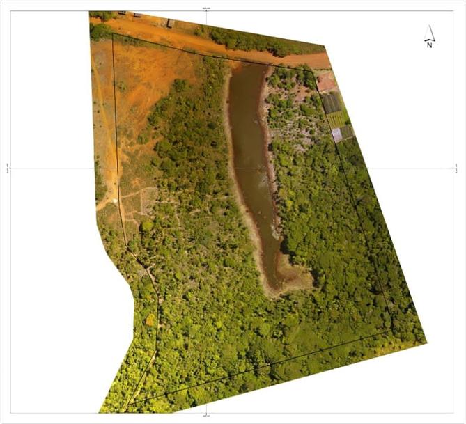 Imagem de uma topografia capturada por drone