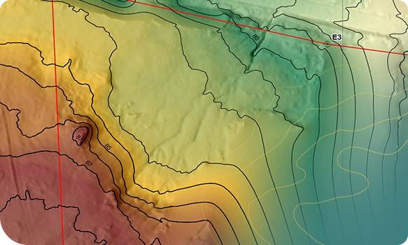 O MDT pode ser representado através de duas formas: bidimensional (por meio de mapas) ou tridimensional