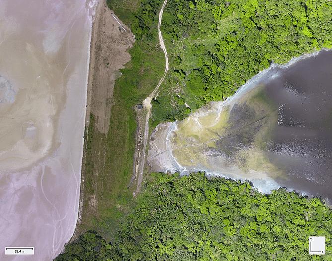 ortomosaico georreferenciado capturado por drone