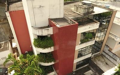 Cadastro arquitetônico de edificações com drone