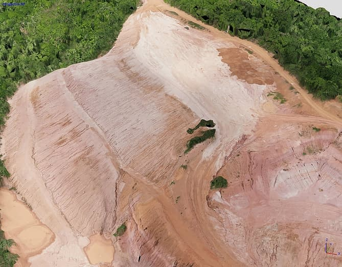 Modelo digital de terreno obtido por aerofotogrametria