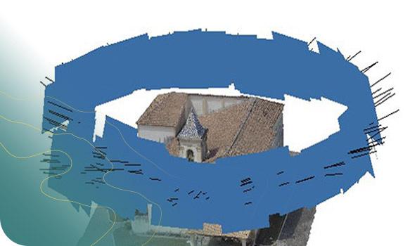 Modelo tridimensional de nuvem