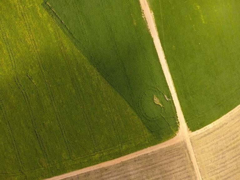 Fotografia aérea de campo