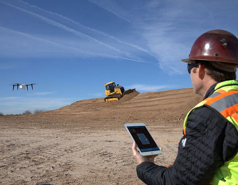 drone sendo usado em mineração