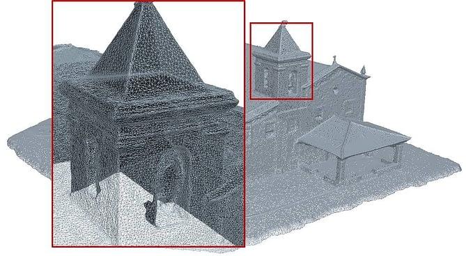 Representação 3D de uma construção via MDS