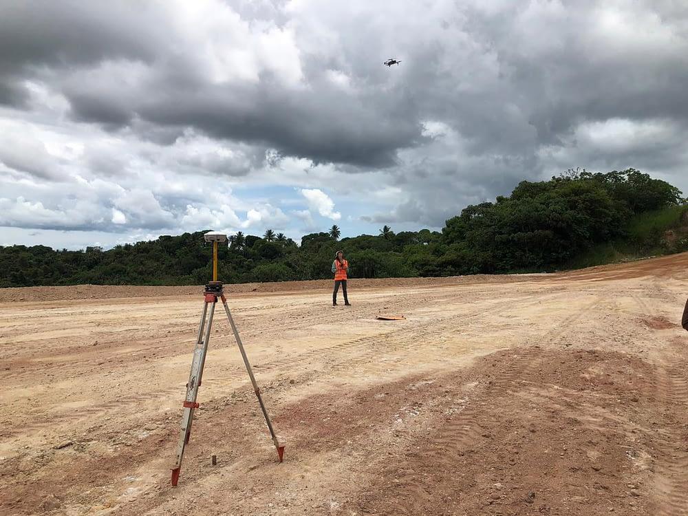 Topografia e levantamento topografico com drone