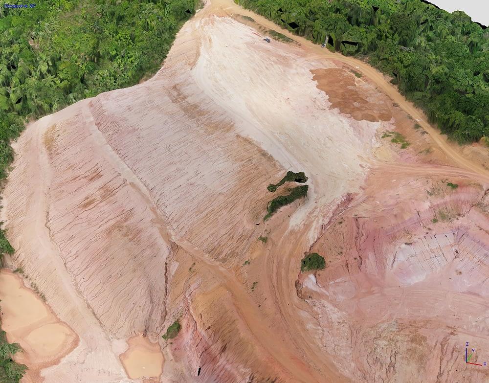 Modelo Digital de Terreno (MDT) com drone