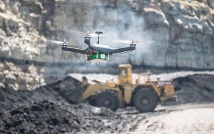 Drone na mineração