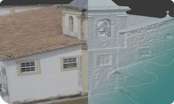 Riqueza de detalhes de levantamento é um dos maiores benefícios da inspeção com drone na arquitetura